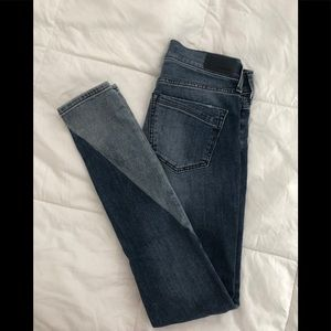 Express colorblock skinny jeans 00 Reg EUC